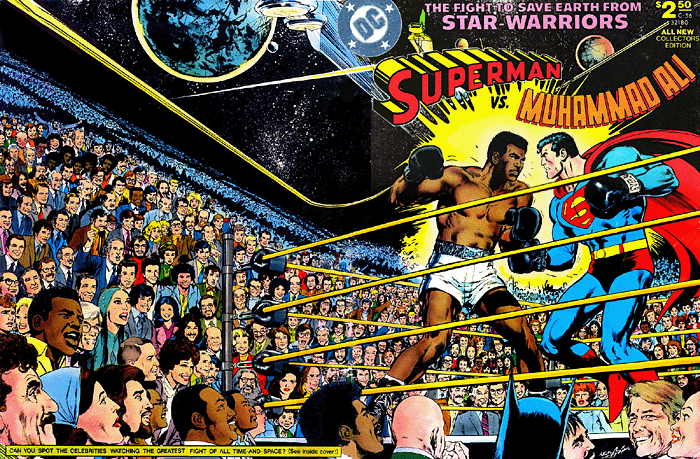 """Superman vs. Muhammad Ali"" wraparound cover."