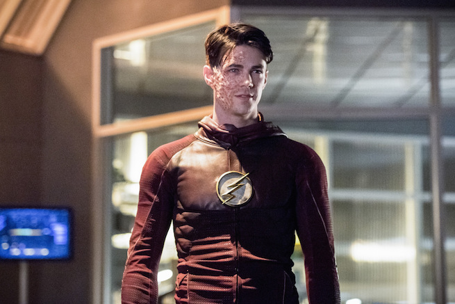 """The Flash -- """"Infantino Street"""" -- FLA322a_0450b.jpg -- Pictured: Grant Gustin as Barry Allen -- Photo: Dean Buscher/The CW -- © 2017 The CW Network, LLC. All rights reserved."""