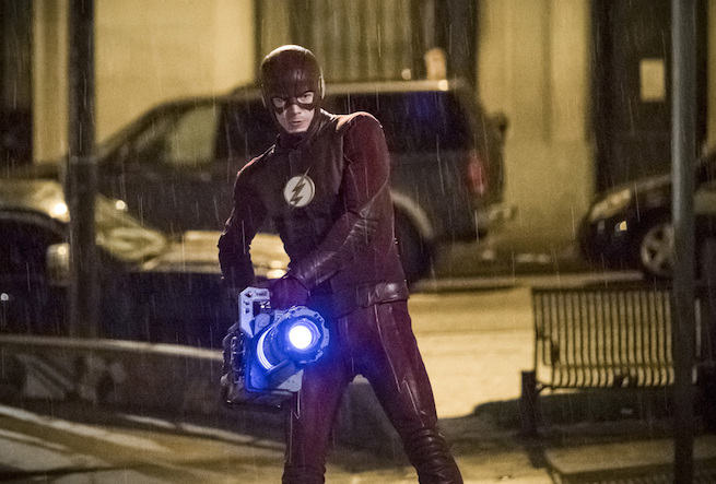 """The Flash -- """"Infantino Street"""" -- FLA322c_0101b.jpg -- Pictured: Grant Gustin as Barry Allen -- Photo: Katie Yu/The CW -- © 2017 The CW Network, LLC. All rights reserved."""