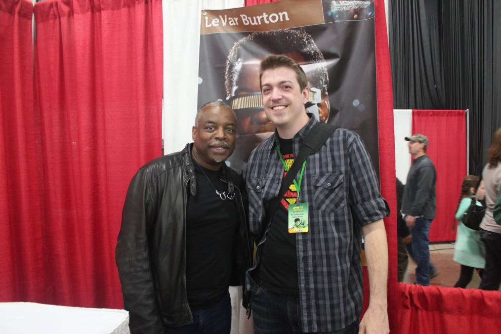 LeVar Burton and yours truly.