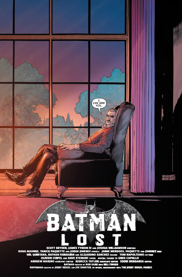 Batman Lost 1 - DC Comics News