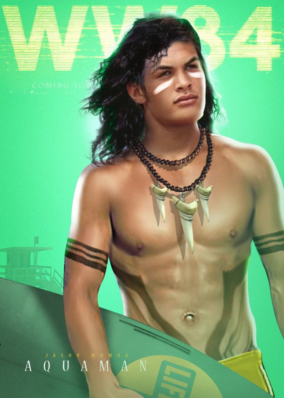 Aquaman Wonder Woman 1984 fan poster dc comics news