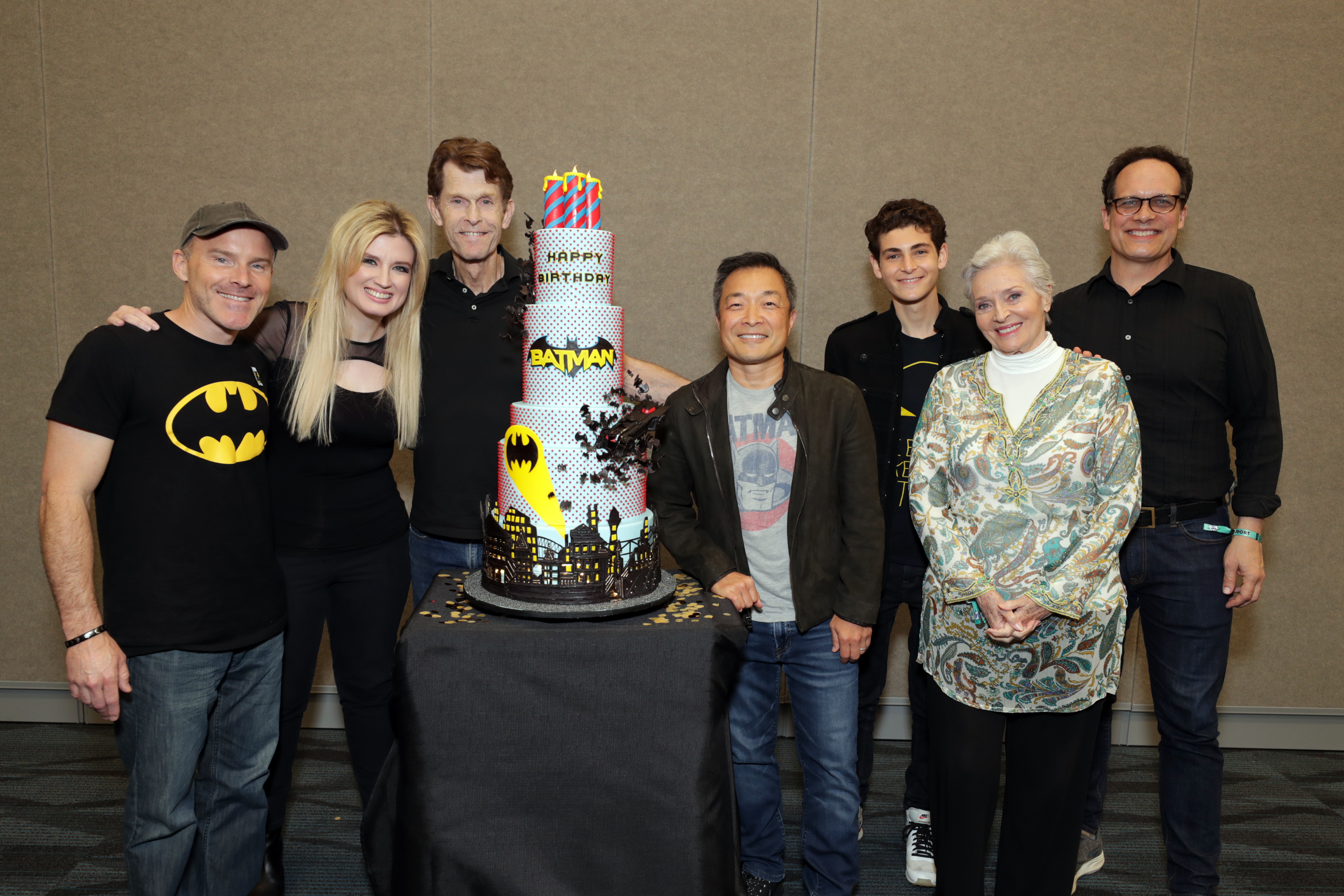 Roger Craig Smith, Grace Randolph, Kevin Conroy, DC Publisher, Jim Lee - DC Publisher, Chief Creative Officer - DC Entertainment, David Mazouz, Lee Meriwether and Diedrich Bader