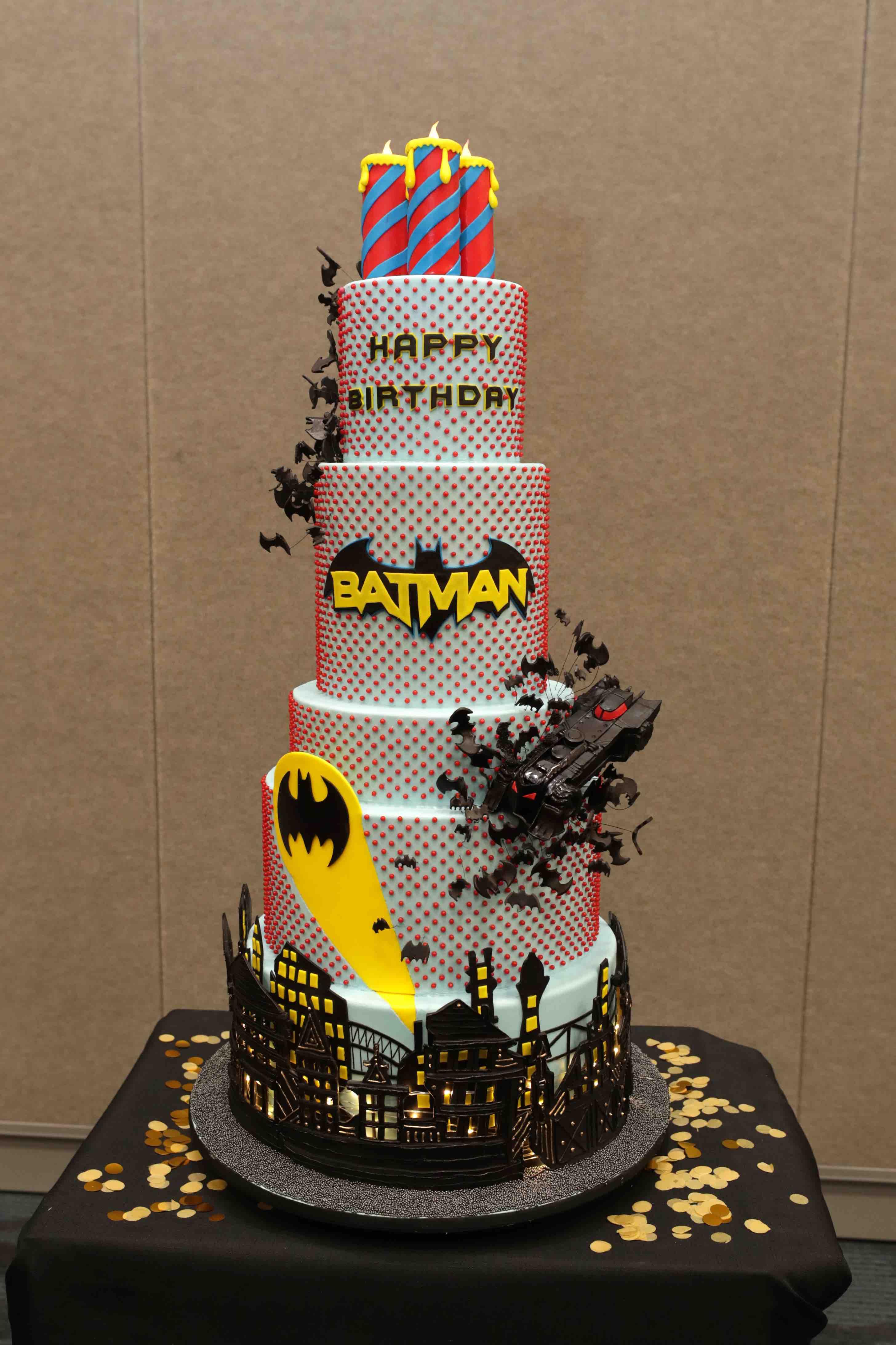 Happy Birthday Batman Cake