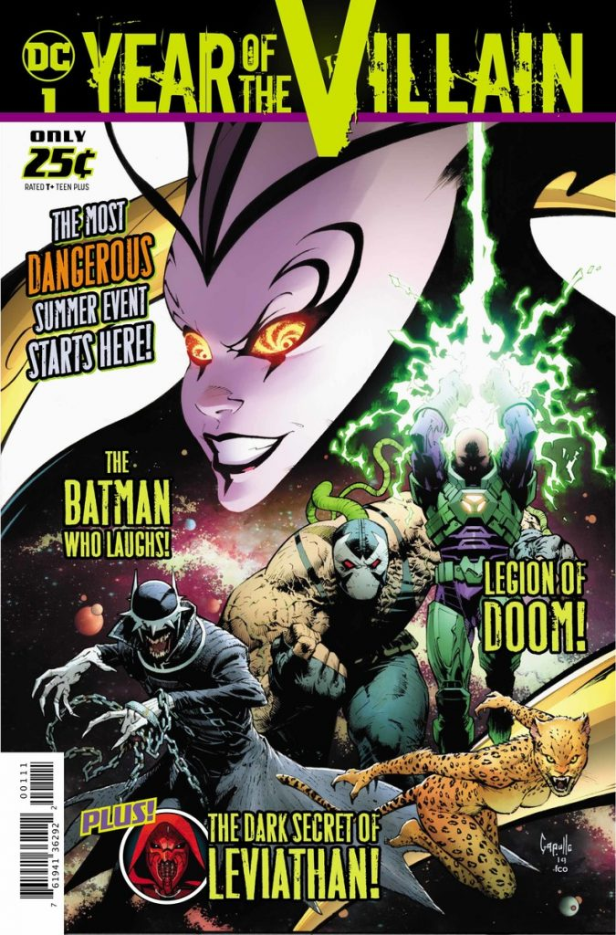 Cover to DC'S YEAR OF THE VILLAIN by Greg Capullo and FCO