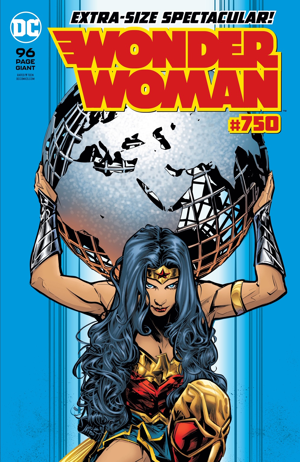 The cover to Wonder Woman #750.