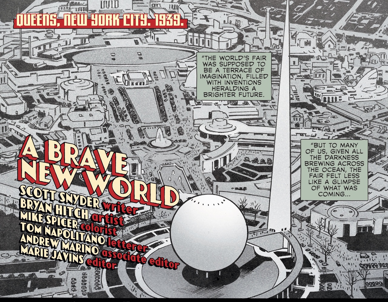 """First Look: """"A Brave New World"""" by Scott Snyder and Bryan Hitch appearing in Wonder Woman #750:"""