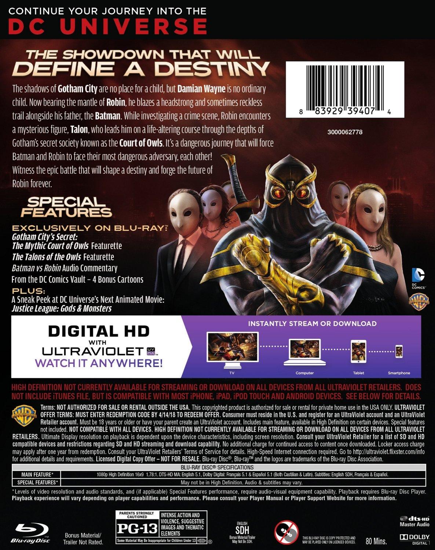 Batman vs Robin and Batman Unlimited DVD Back Covers