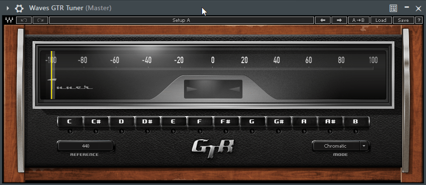 Find the Pitch of a Kick Drum Sample using Waves GTR Tuner in FL Studio - Waves GTR Tuner