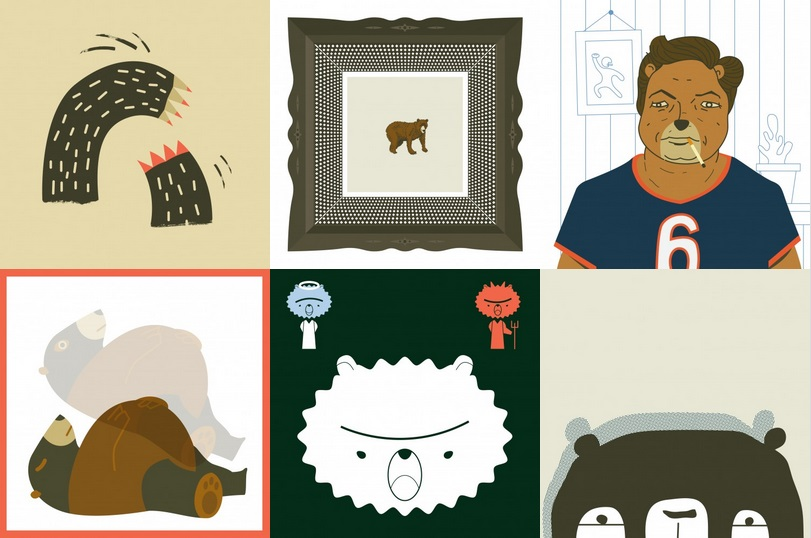 熊出沒注意!控制壞脾氣的熊插畫   Jared Rippy,熊,插畫   妞書房   妞新聞 niusnews