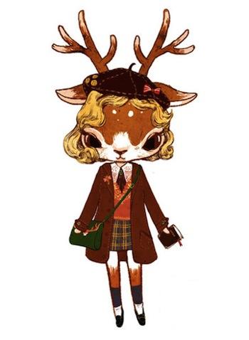 一眼愛上!超萌的森林系少女小鹿 ─ Ruby Nan   繪畫,動物,萌,鹿,Ruby Nan   生活發現   妞新聞 niusnews