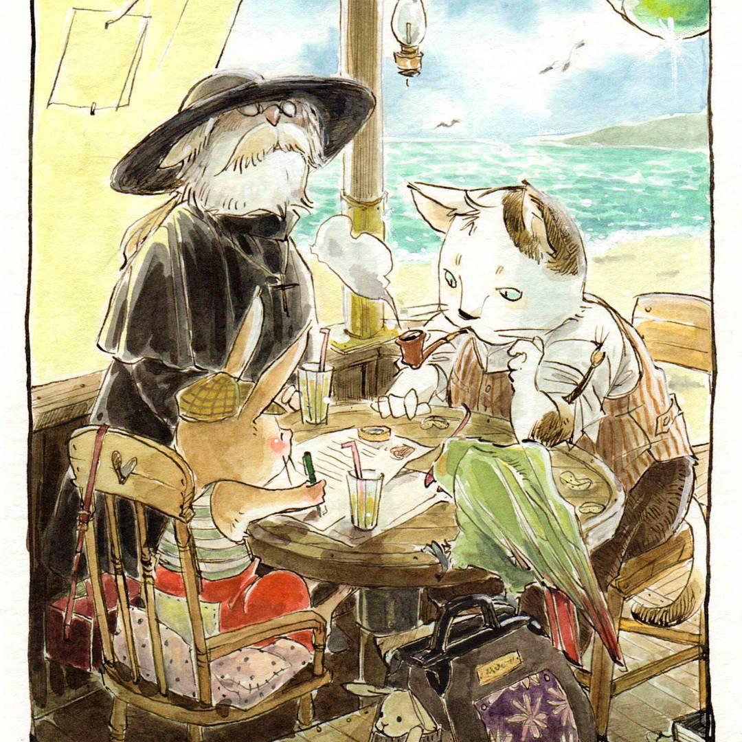 這是老年版的「龜兔賽跑」嗎?用水彩畫出吉卜力風的神級畫作 | 童話,水彩,繪本,童話,山崎牧子 | 妞 ...