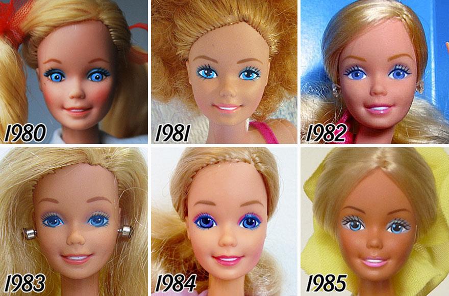 早期也未免太跩了吧!芭比娃娃56年長相進化史 | 流行時光機,芭比,barbie,化妝,眼妝 | 美人計 | 妞新聞 niusnews