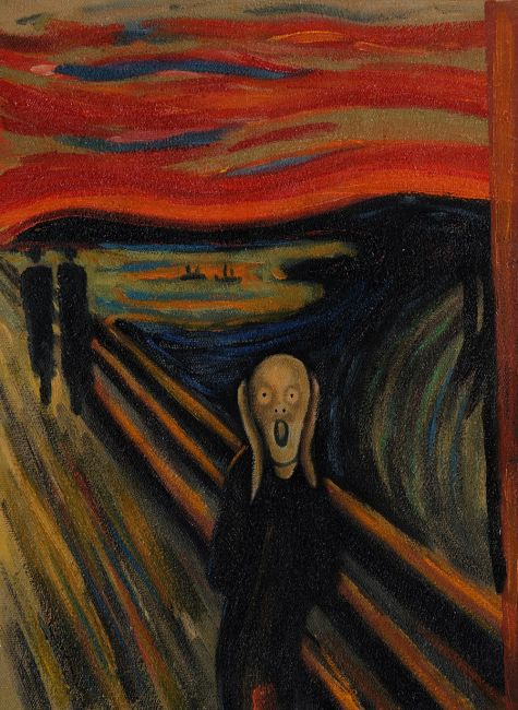 The Scream  Canvas Art  Reproduction Oil Paintings