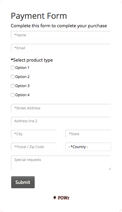 Payment Form Plugin for Weebly website in no time