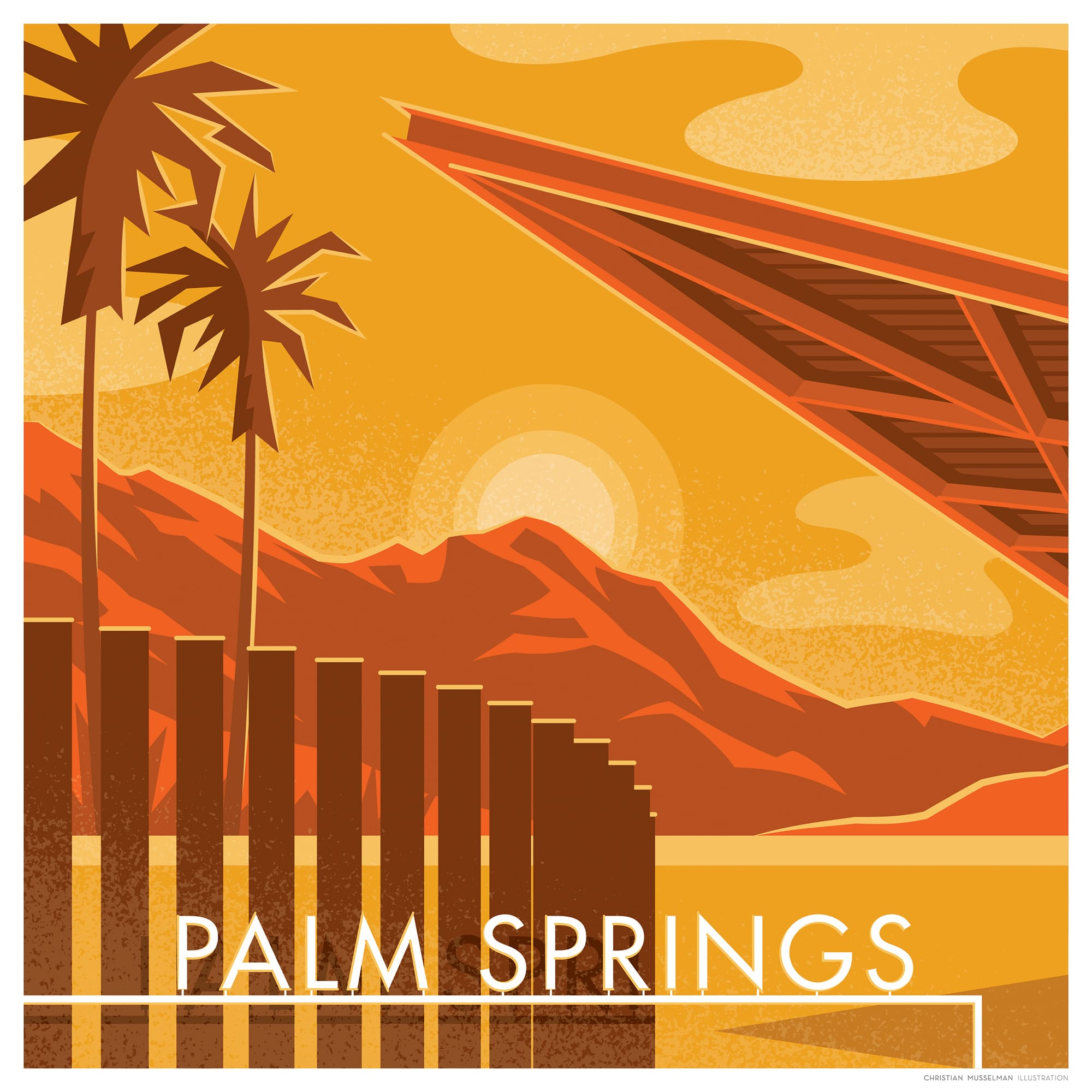 revolving chair thames masters folding chairs artist christian musselma shows his affection for palm springs