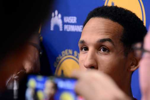 Golden State Warriors G Shaun Livingston (34) answers questions during the Warriors end-of-season media session at their practice facility in Oakland, Calif. on Wednesday, Jun. 14, 2017. On Monday, the Warriors beat the Cleveland Cavaliers to win the NBA Finals.