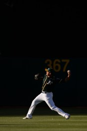 Oakland Athletics starting pitcher Sean Manaea (55) warms up before the Houston Astros face the Oakland Athletics at Oakland Coliseum in Oakland, Calif., on Wednesday, June 21, 2017.