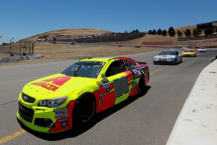 Monster Energy NASCAR Cup Series driver Dale Earnhardt Jr. (88) turns the corner at turn 4 at the Toyota/Save Mart 350 at Sonoma Raceway in Sonoma, Calif., on Sunday, June 24, 2017.