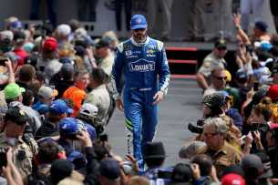 Monster Energy NASCAR Cup Series driver Jimmie Johnson (48) is announced at the Toyota/Save Mart 350 at Sonoma Raceway in Sonoma, Calif., on Sunday, June 24, 2017.