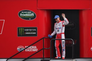Monster Energy NASCAR Cup Series driver Kevin Harvick (4) is announced at the Toyota/Save Mart 350 at Sonoma Raceway in Sonoma, Calif., on Sunday, June 24, 2017.