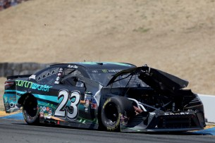 Monster Energy NASCAR Cup Series driver Alon Day (23) has some issues with his car early on at the Toyota/Save Mart 350 at Sonoma Raceway in Sonoma, Calif., on Sunday, June 24, 2017.