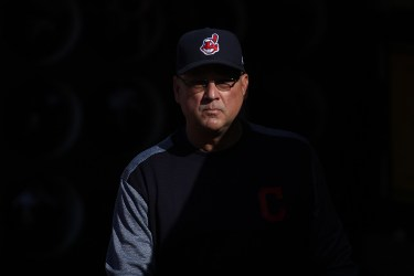 Cleveland Indians manager Terry Francona (17) walks in the dugout before the Cleveland Indians face the Oakland Athletics at Oakland Coliseum in Oakland, Calif., on Saturday, July 15, 2017.