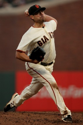 San Francisco Giants pitcher Matt Moore (45) throws a pitch in the third inning as the Cleveland Indians face the San Francisco Giants at AT&T Park in San Francisco, Calif., on Monday, July 17, 2017.
