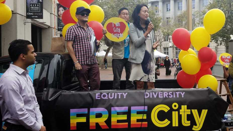 Supervisor Jane Kim officially launches the program that will allow San Francisco residents to attend City College of San Francisco free starting in the fall 2017.