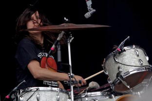 Stella Mozgawa of Warpaint performs at the Outside Lands Music Festival at Golden Gate Park in San Francisco, Calif., on Saturday, August 12, 2017.