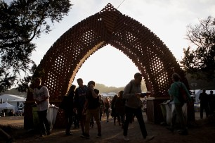 Concert goers make their way through the grounds at the Outside Lands Music Festival at Golden Gate Park in San Francisco, Calif., on Saturday, August 12, 2017.