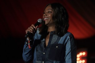 Tiffany Haddish performs at the Outside Lands Music Festival at Golden Gate Park in San Francisco, Calif., on Sunday, August 13, 2017.