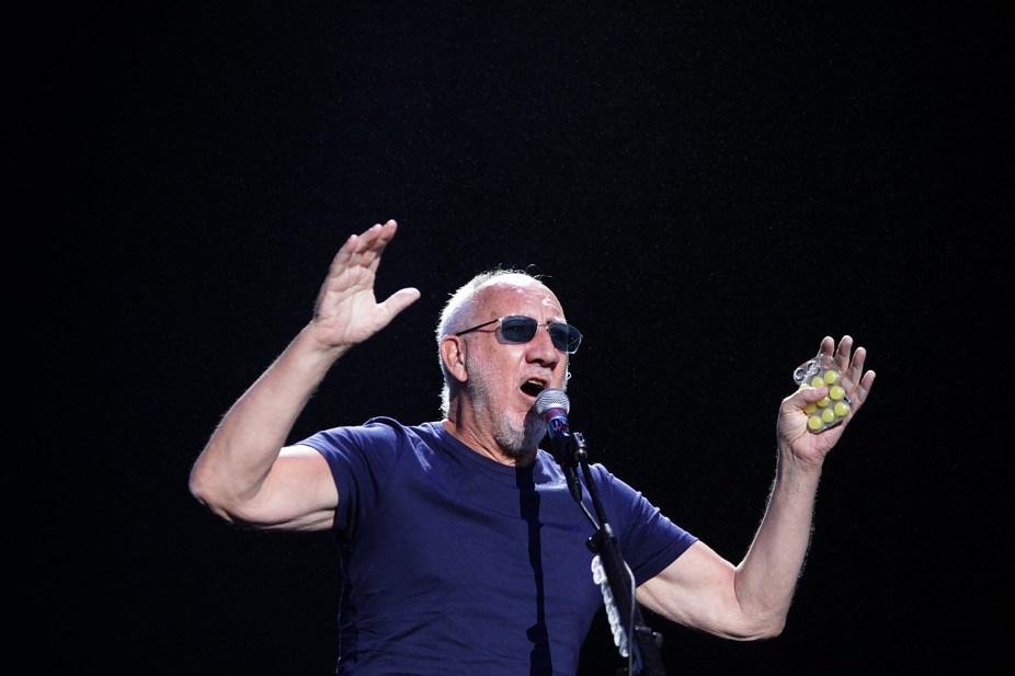 Pete Townshend and The Who welcome fans at the Outside Lands Music Festival at Golden Gate Park in San Francisco, Calif., on Sunday, August 13, 2017.