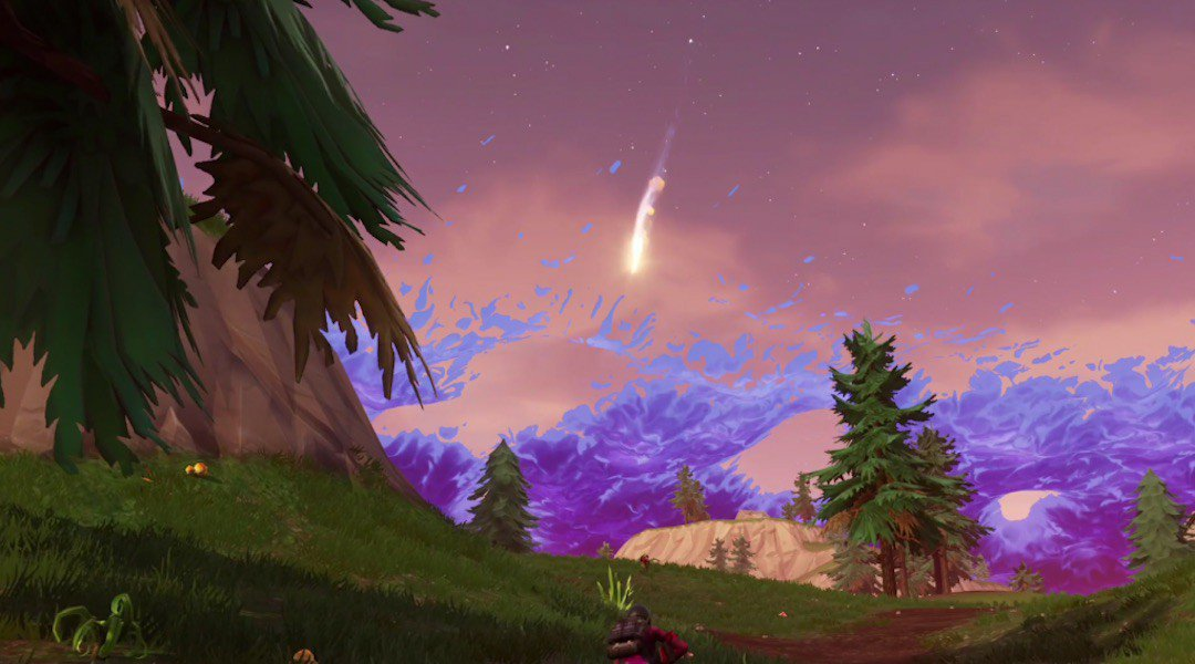 Fortnite Wallpaper Falling From The Sky What S The Deal With The Fortnite Meteor Shacknews