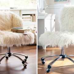 White Fluffy Desk Chair Small Table And Chairs Set 20 Delightful | Brit + Co