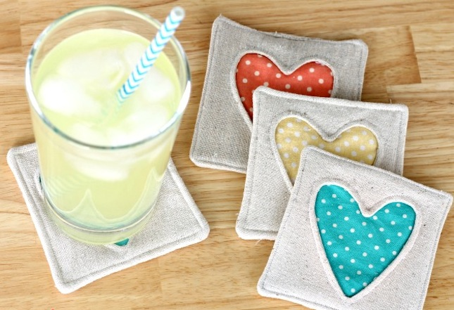 001-Fabric-Heart-Coasters