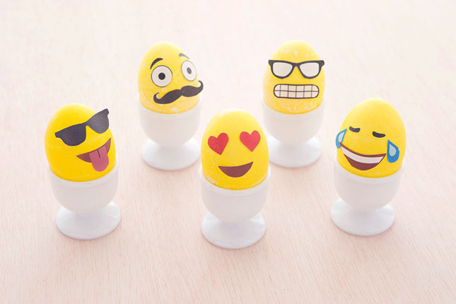 Emoji Easter Eggs Of Course We Had To Bring Some Emojis Into The Mix Shrunk Down Printable Templates From Our Pumpkins Make This Cast