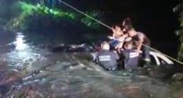 Reconocen a policías y elementos de PC por rescatar a una familia