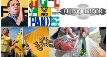 El Inquisidor: De la 'greña', los militantes de los partidos políticos. Silvano Aureoles aterriza de emergencia en Acámbaro. Salvar la ambigüedad, el reto.  Rechazo al no uso de las bolsas de plástico.