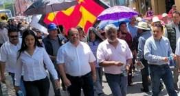 PT y Morena marchan en apoyo a AMLO