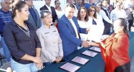 Entregan copia de lema sobre Hidalgo a la Delegación Municipal de Jaripeo