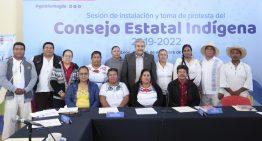 Toma protesta el Consejo Estatal Indígena; Lo integran 13 municipios