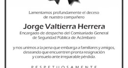 La Alcaldía otorgará apoyo a la Familia del Comandante Jorge Valtierra