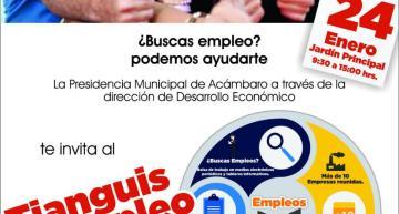 """Organizan el  """"Tianguis del Empleo"""" este 24 de enero"""