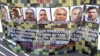 Colocan narco mantas  en ocho municipios de Guanajuato