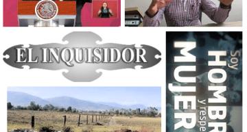 """El Inquisidor: Productiva, la visita de AMLO a Tierra Blanca.  La Fracción del PRD, 'manejada' a una particular conveniencia.  Ejidatarios de Tócuaro, manipulados por el """"Chavita Diablos"""".  ¡Más respeto para las mujeres!."""