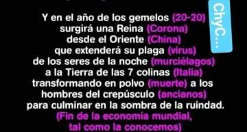Profecía de  Nostradamus sobre el Coronavirus: 1555