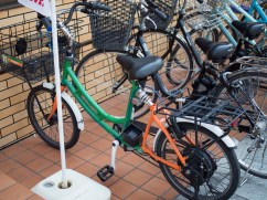 7-Eleven delivery bike - suspension and e-assist.