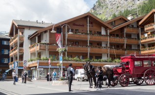 Horses are an acceptable form of transport in Zermatt