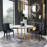 Maxim White Marble Dining Table Tov Furniture